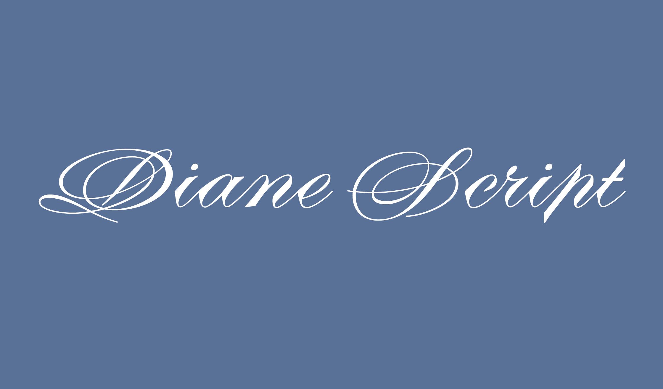 Diane Script Banner Name 2240