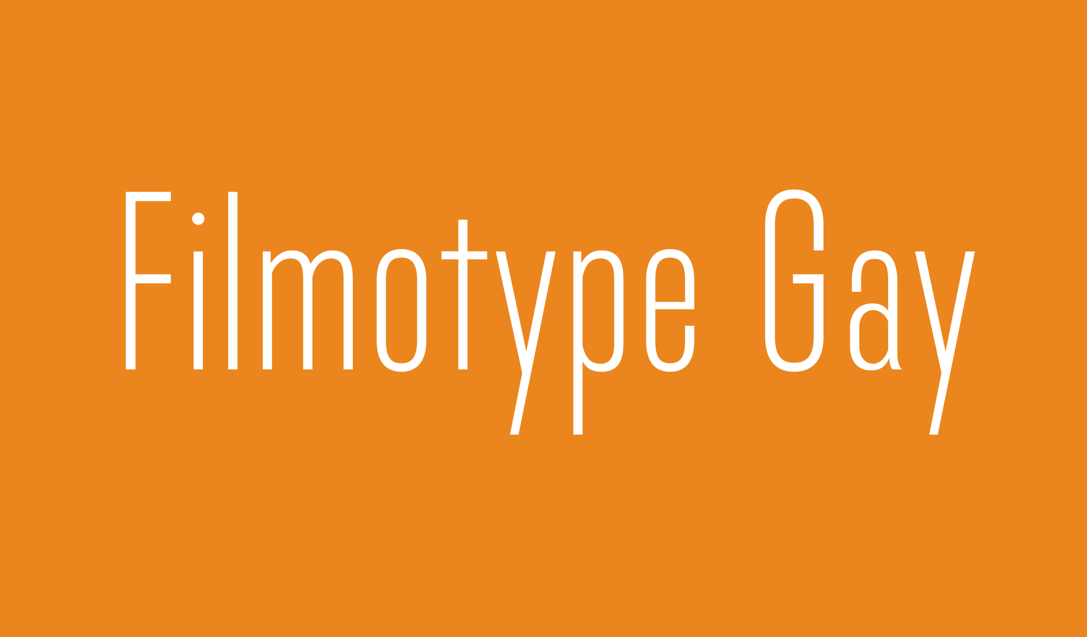 Filmotype Gay Banner Name 2240