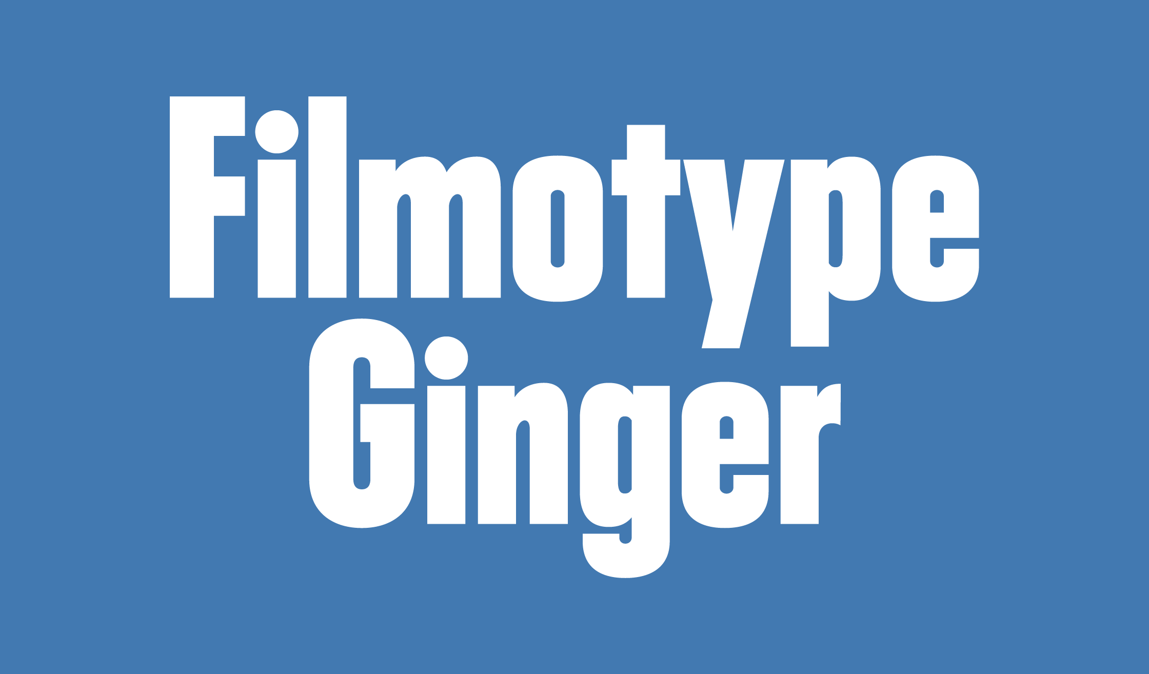 Filmotype Ginger Banner Name 2240
