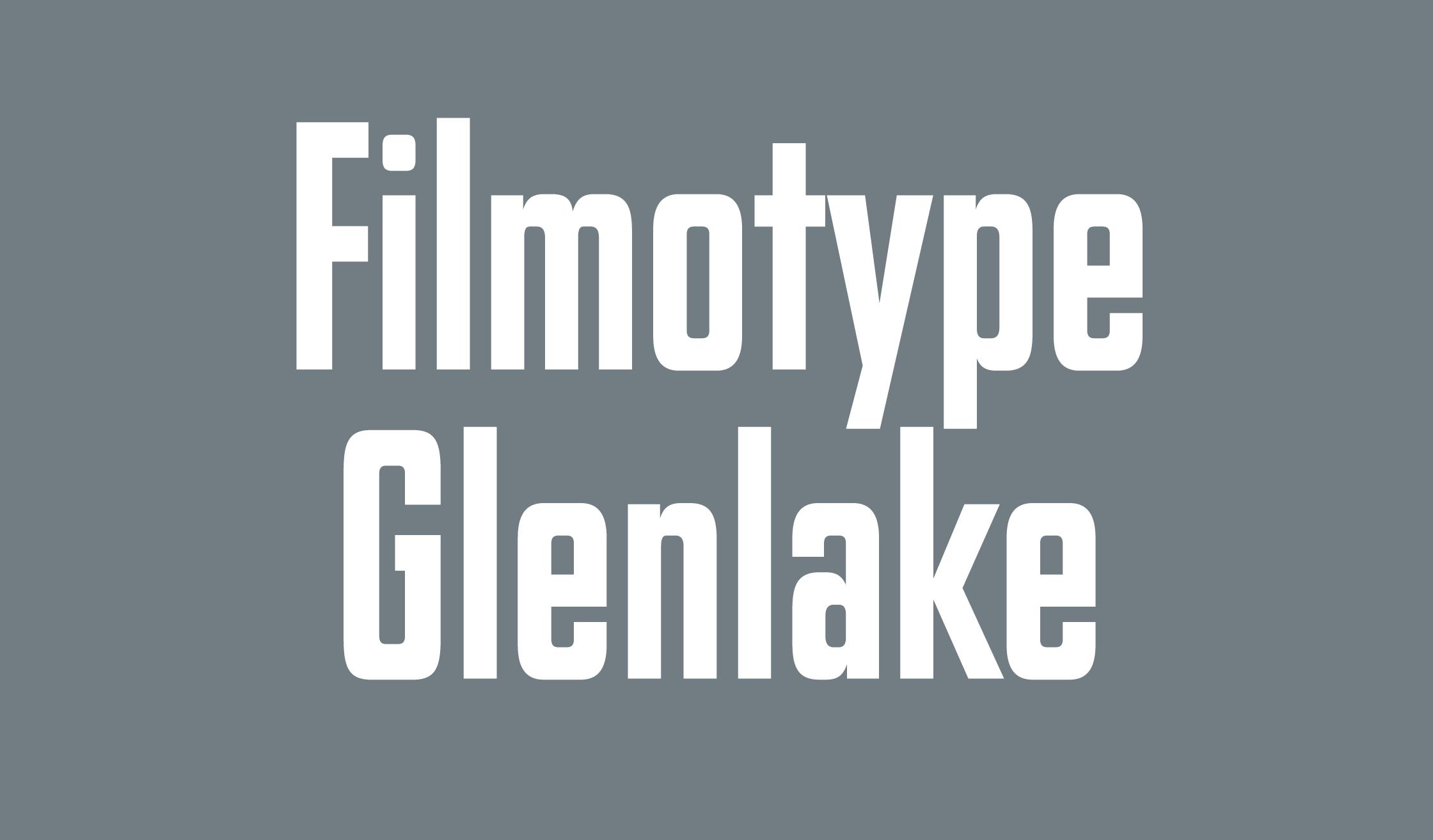 Filmotype Glenlake Banner Name 2240