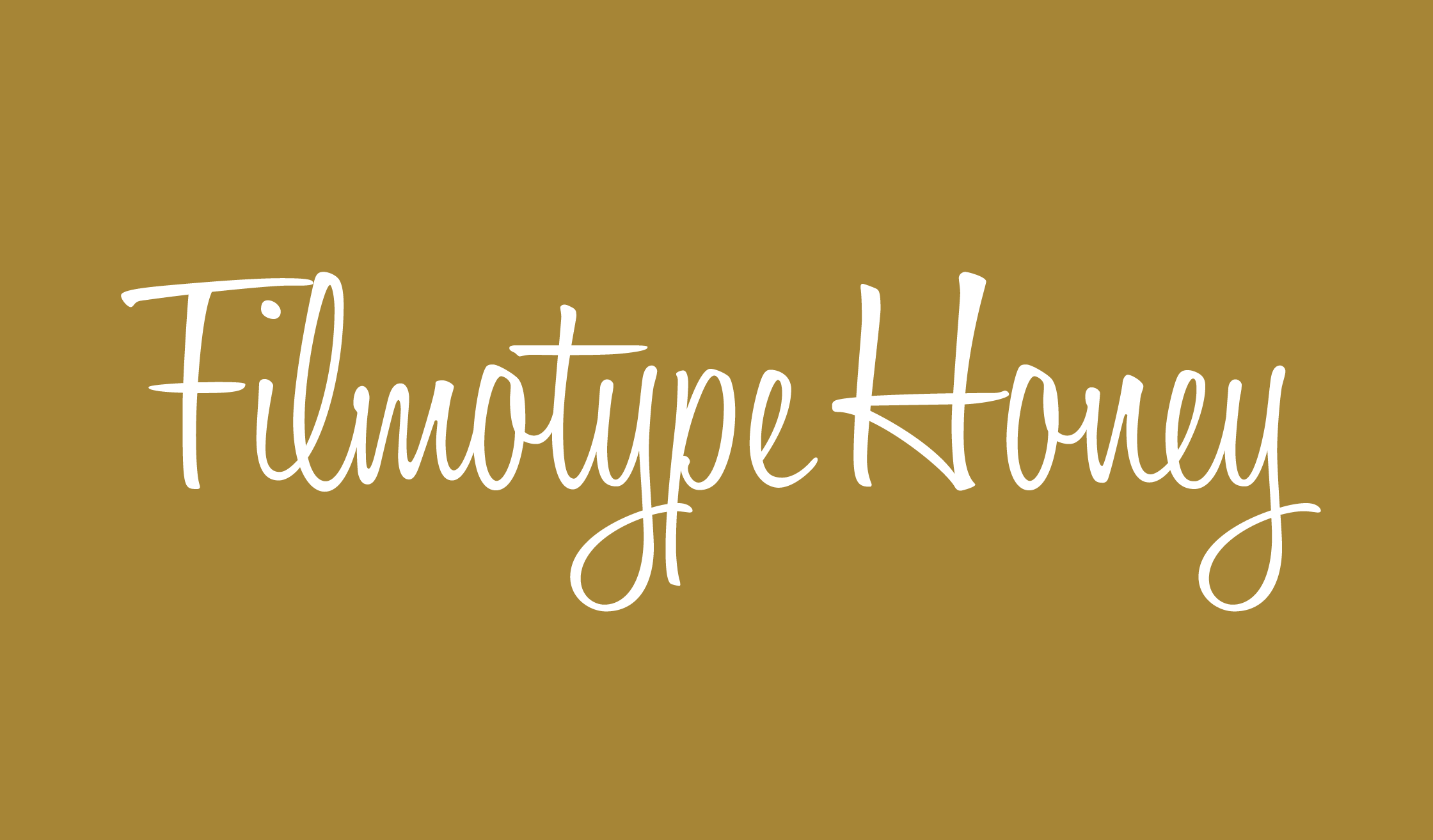 Filmotype Honey Banner Name 2240