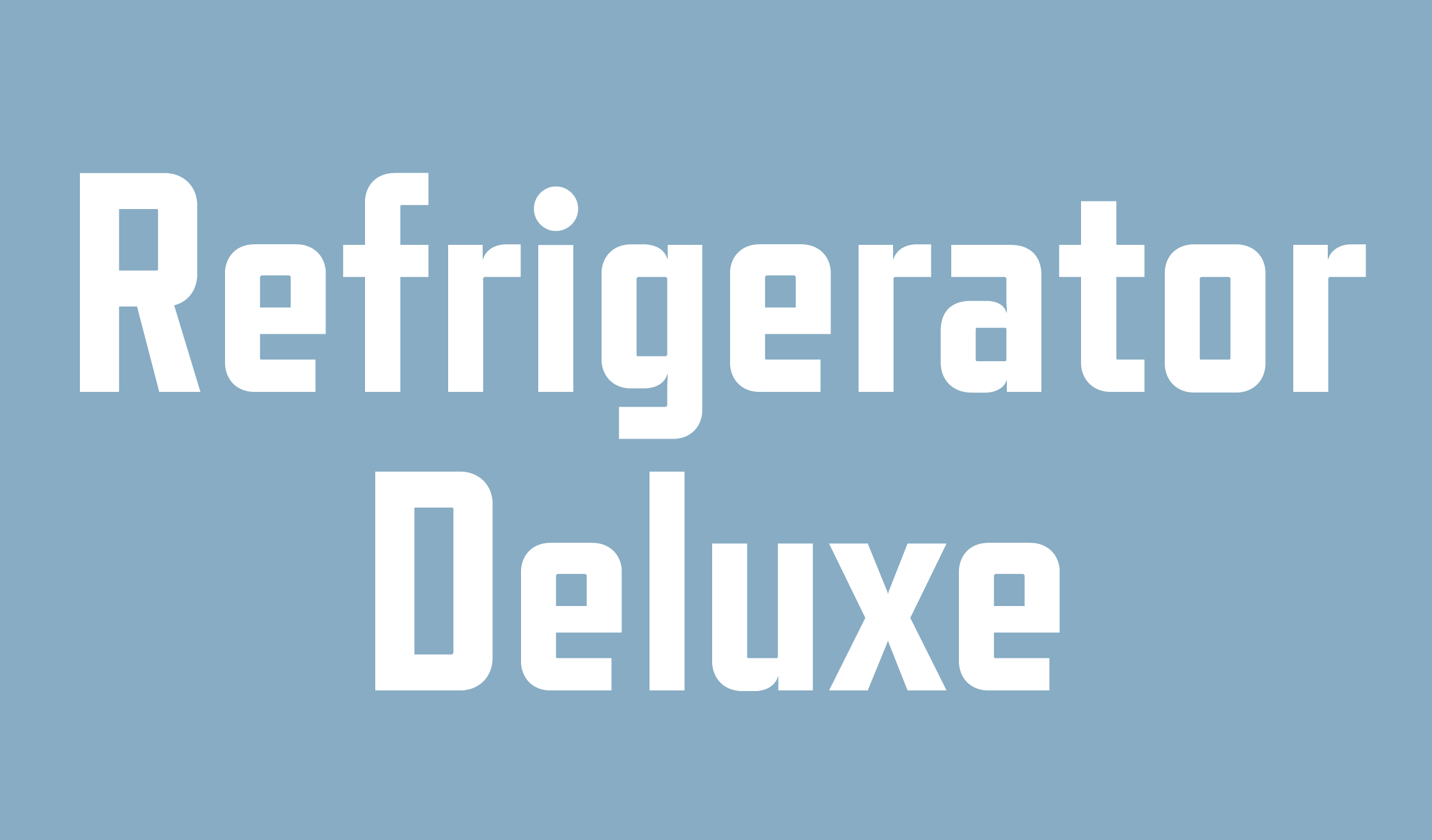 Refrigerator Deluxe Banner Name 2240