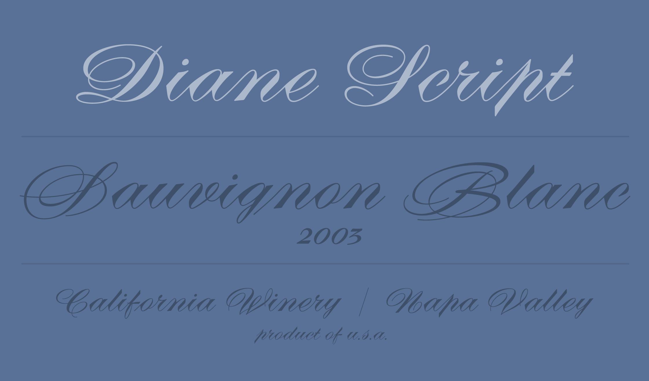 Diane Script & Diane Script Première Specimen