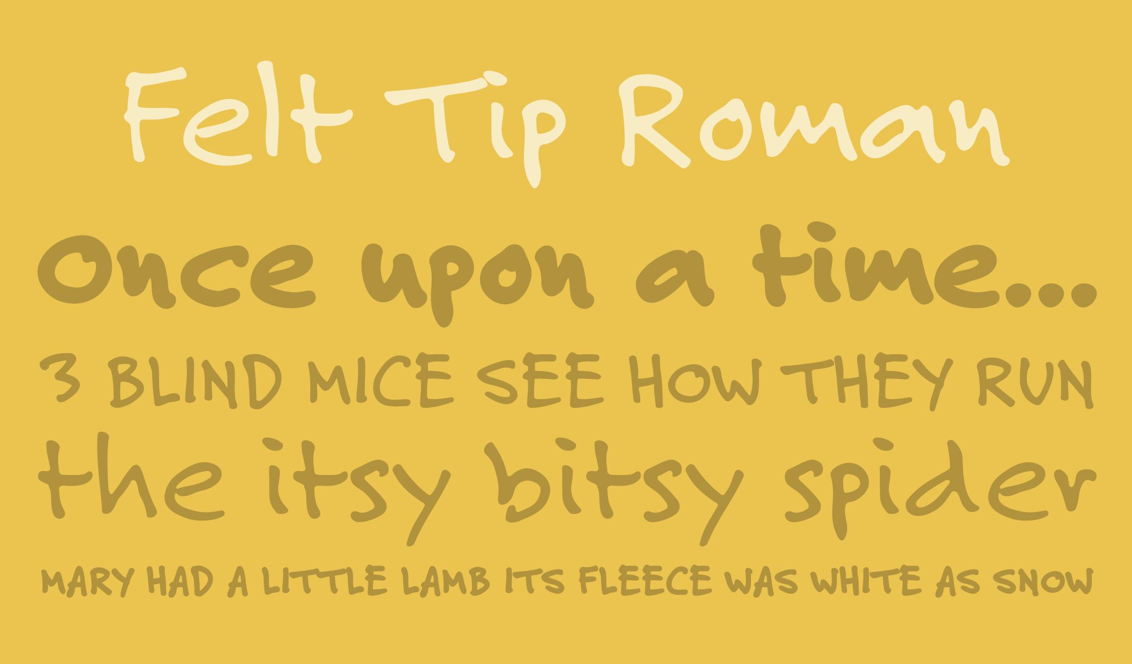 Felt Tip Roman Specimen