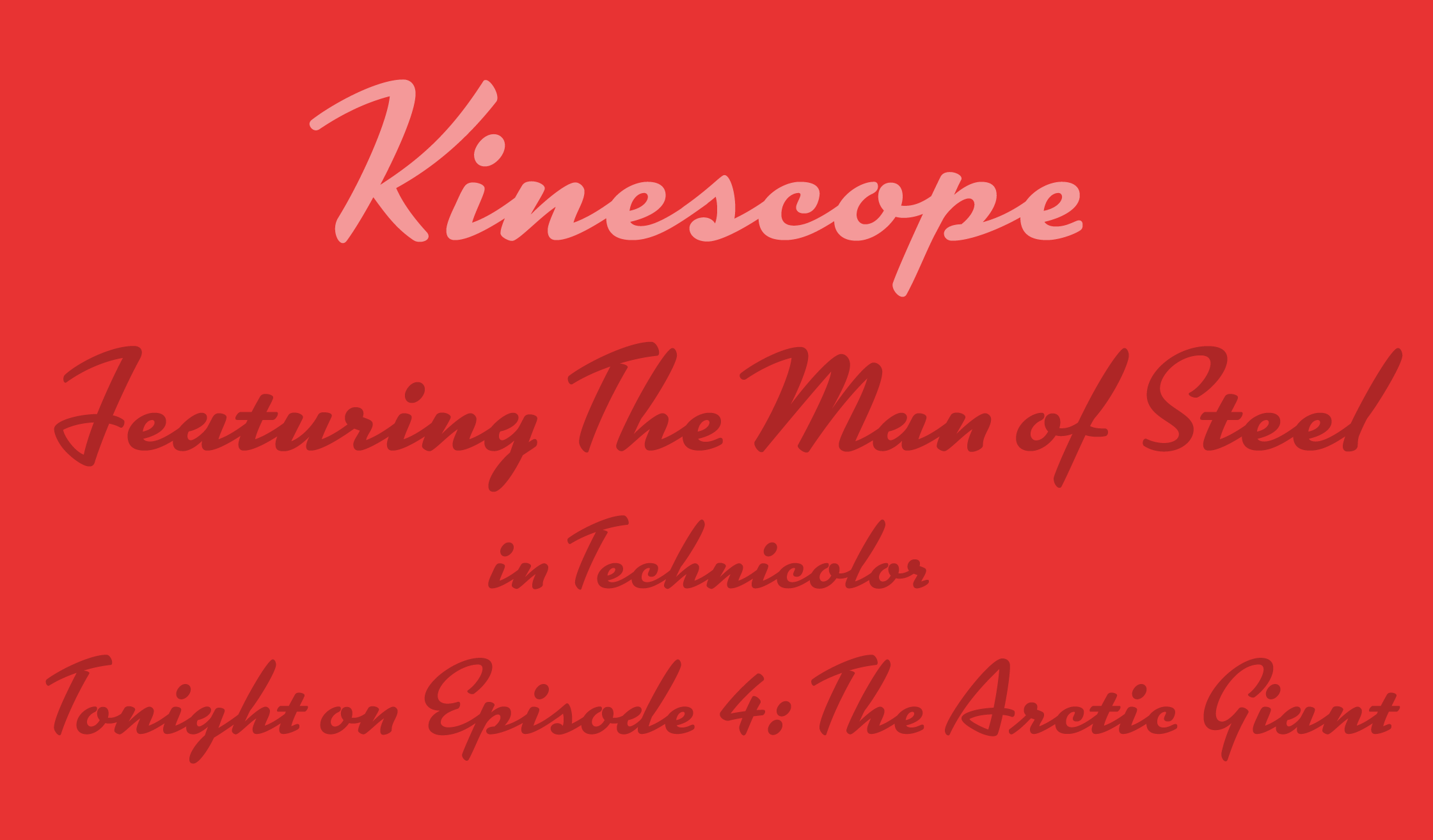 Kinescope Specimen