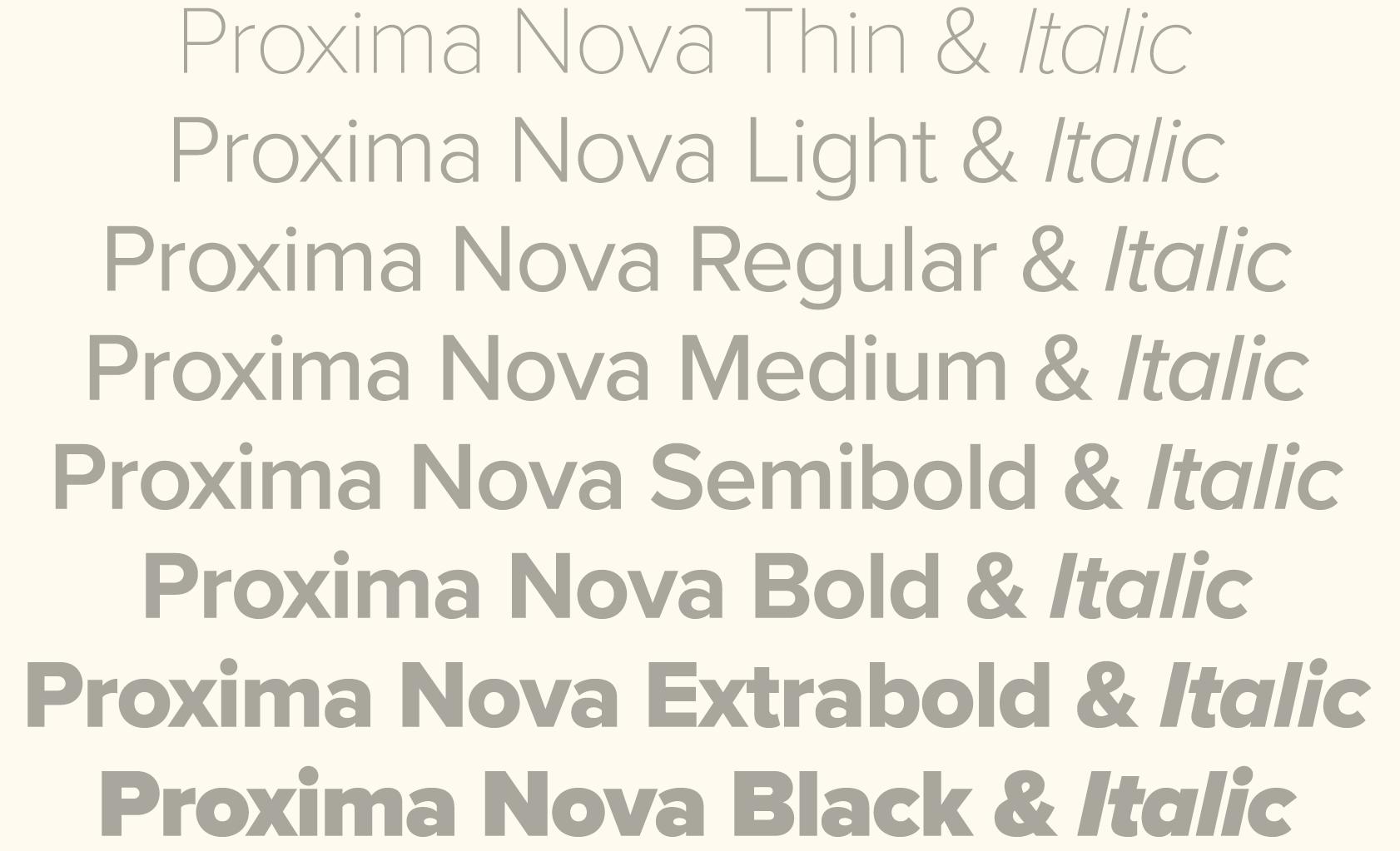 proxima nova light font free download
