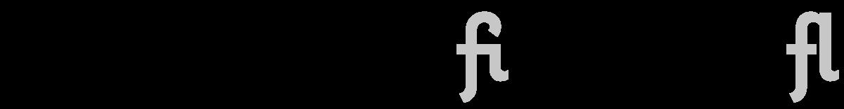Coquette f-ligatures