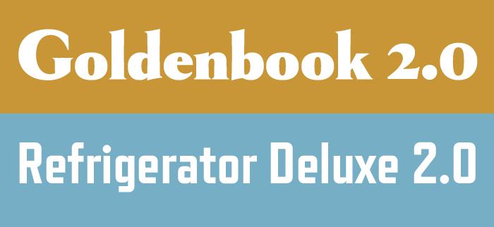 Goldenbook 2.0 and Refrigerator Deluxe 2.0