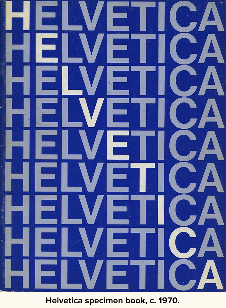 Helvetica specimen book, c. 1970.