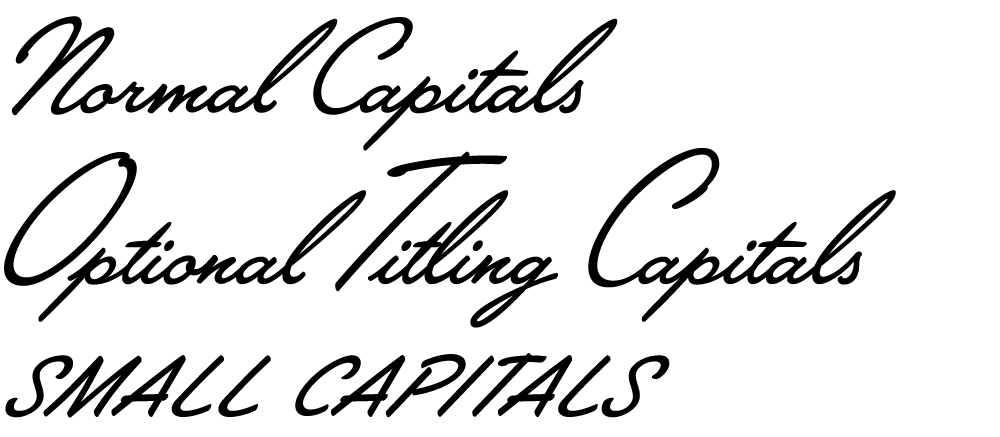 Lakeside capital letter options