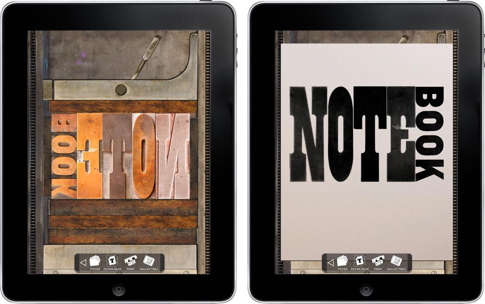 Virtual Letterpress for iPad - Mark Simonson