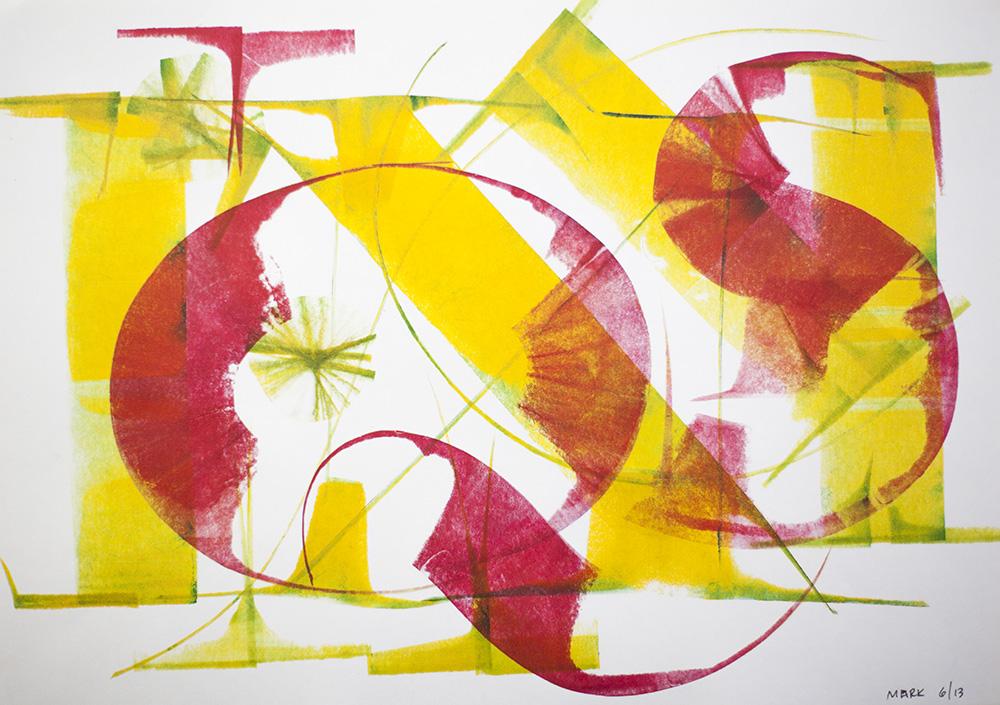 Roller calligraphy by Mark Simonson, 2013.
