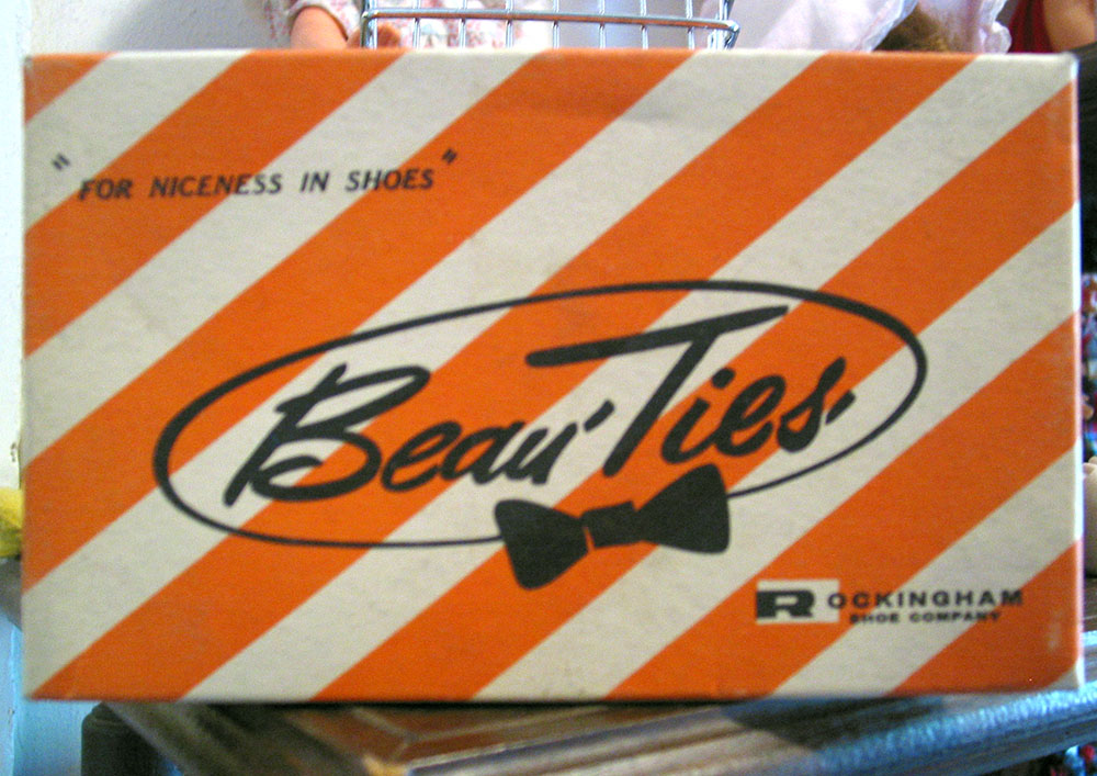 Shoe box labled Beau-Ties--'For Niceness in Shoes'