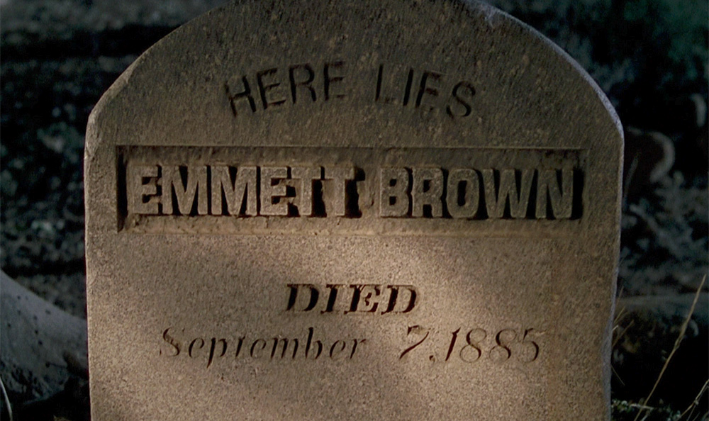 Gravestone with anachronistic fonts