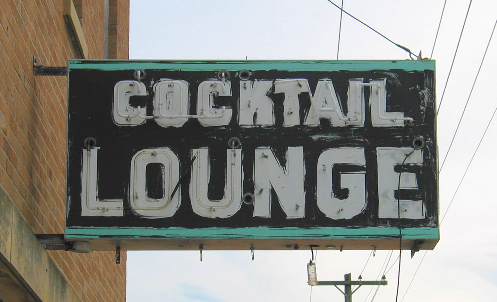 Photo of vintage metal sign