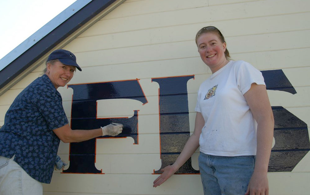 Two of the sign painters