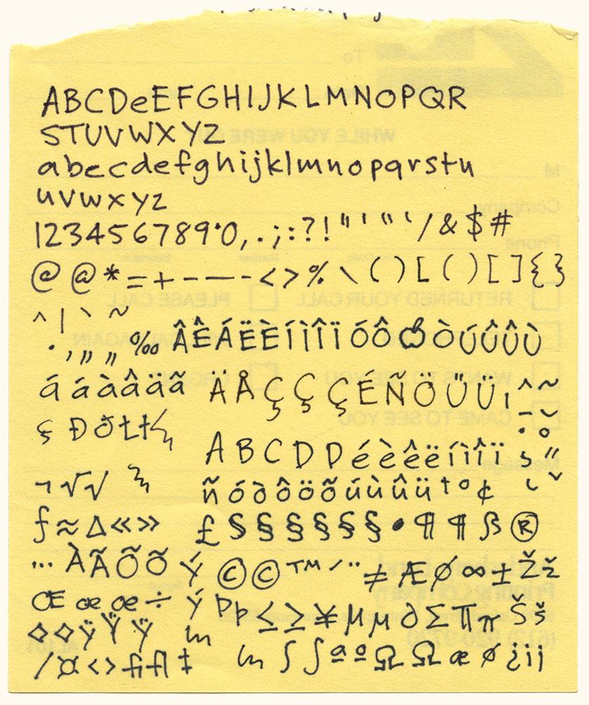 Pen Tip Font Fonts Felt Tip Roman