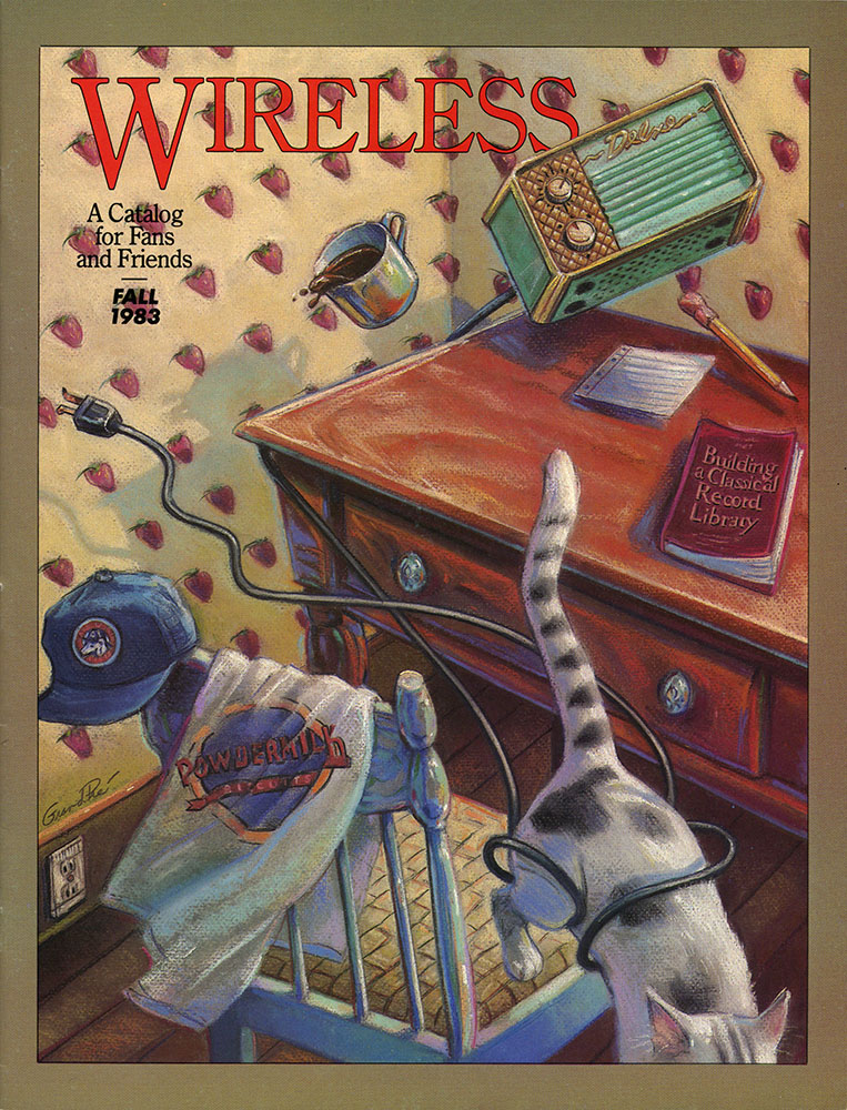 The first Wireless catalog cover, illustrated by Mary GrandPre