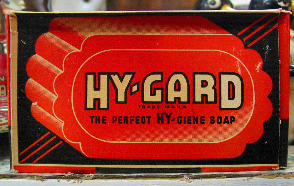 Hy-Gard soap package