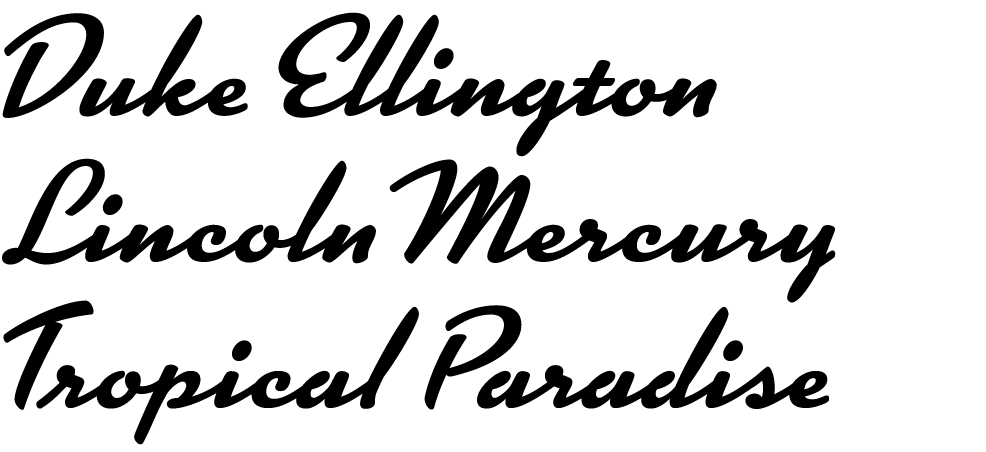 Samples of the new font Kinescope