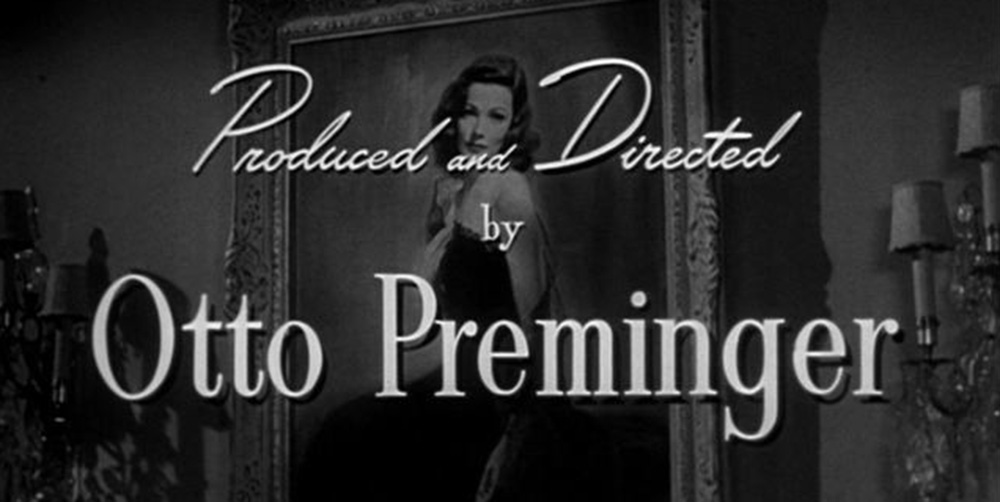 Frame detail from the titles of the 1944 film 'Laura'