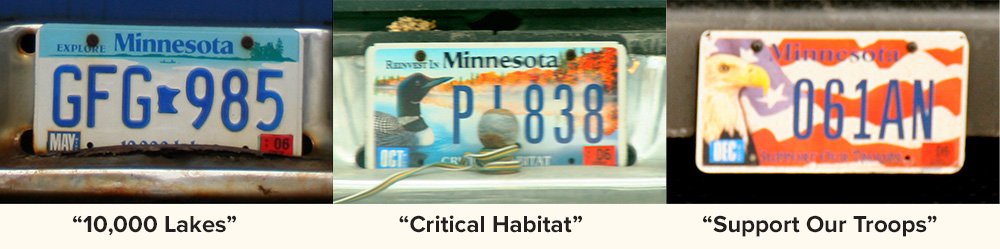 Minnesota license plate designs