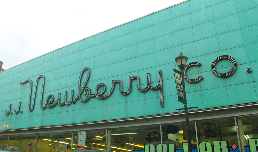 J.J. Newberry Co. department store sign, Owego, New York.