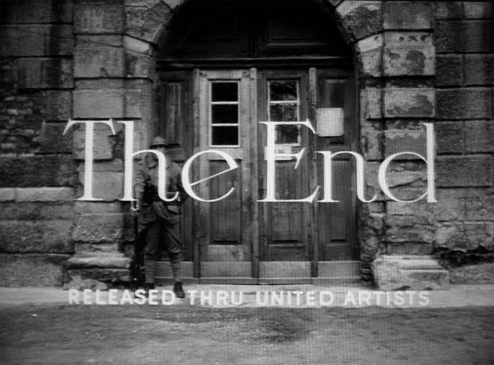 Title lettering in 'Paths of Glory', 1957.
