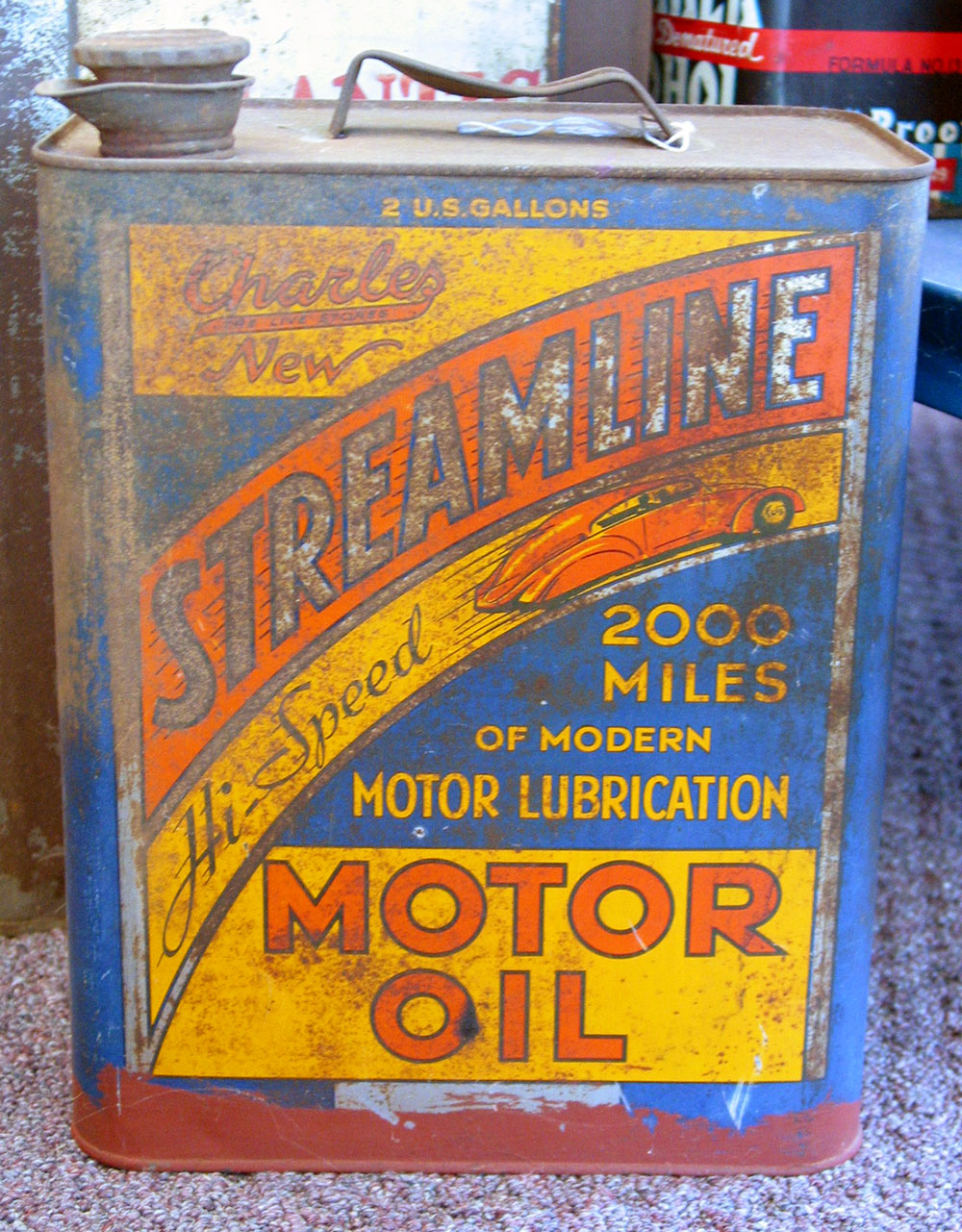 Streamline oil can.