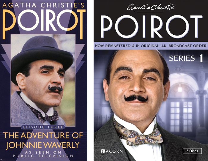 Poirot packaging, 1991 and 2012