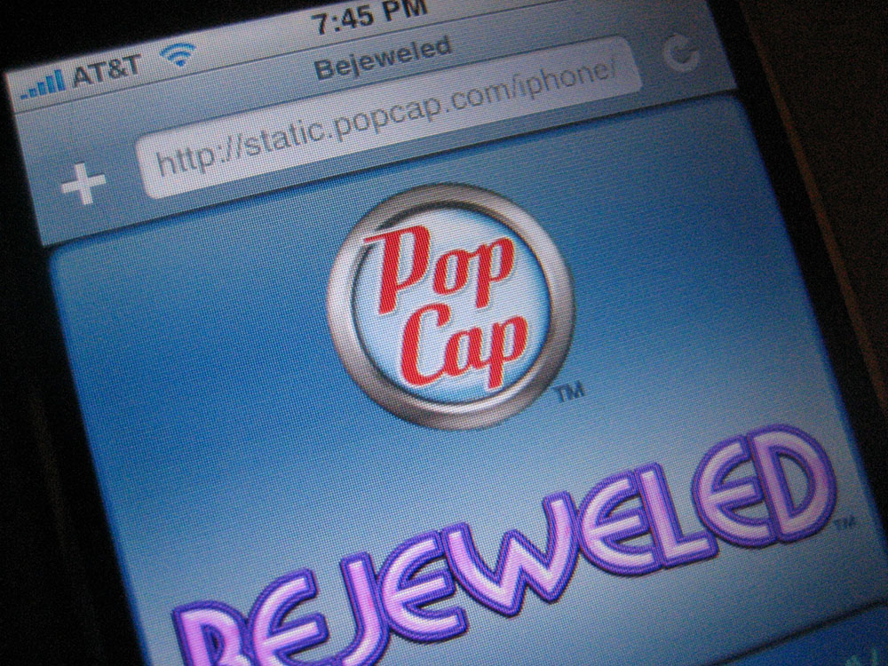 PopCap logo on iPhone