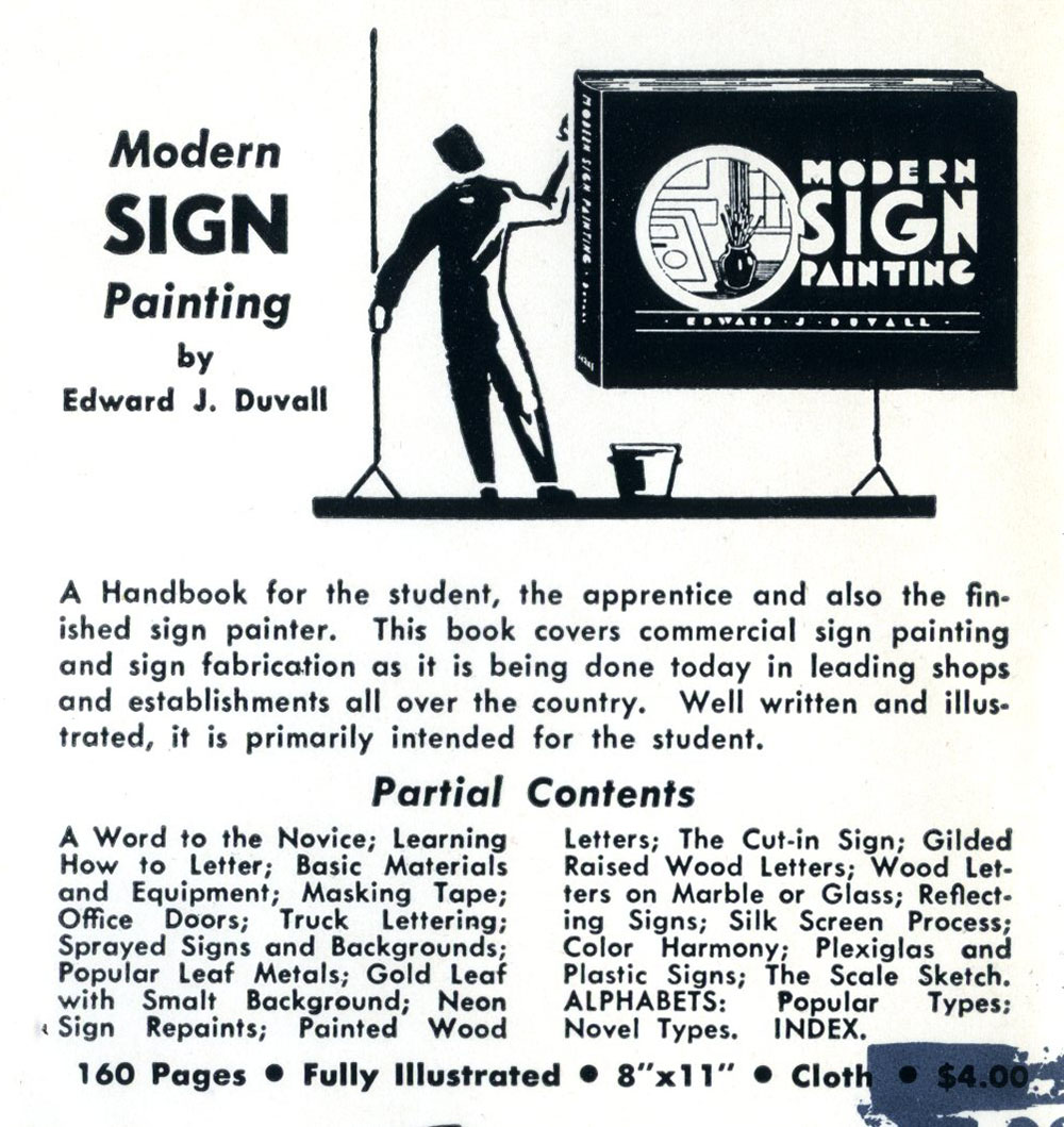 Ad for sign painting how-to book, 1957.