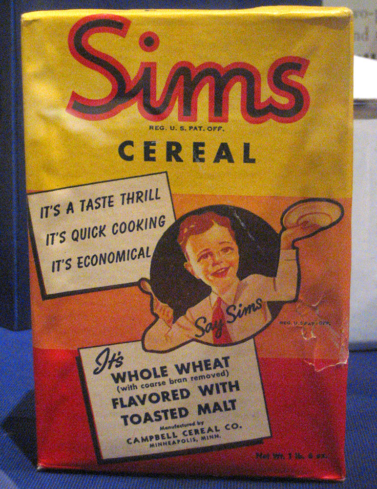 Vintage Sims cereal box
