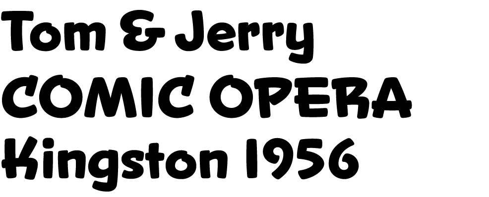Samples of the new font Snicker
