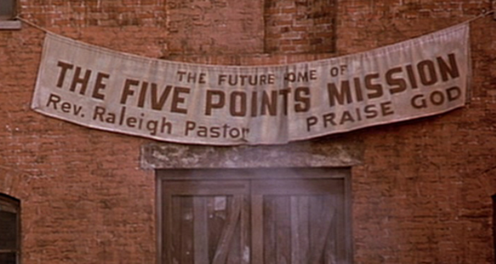 The Five Points Mission sign.