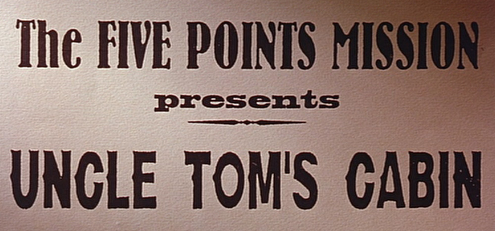 Poster for Uncle Tom's Cabin.