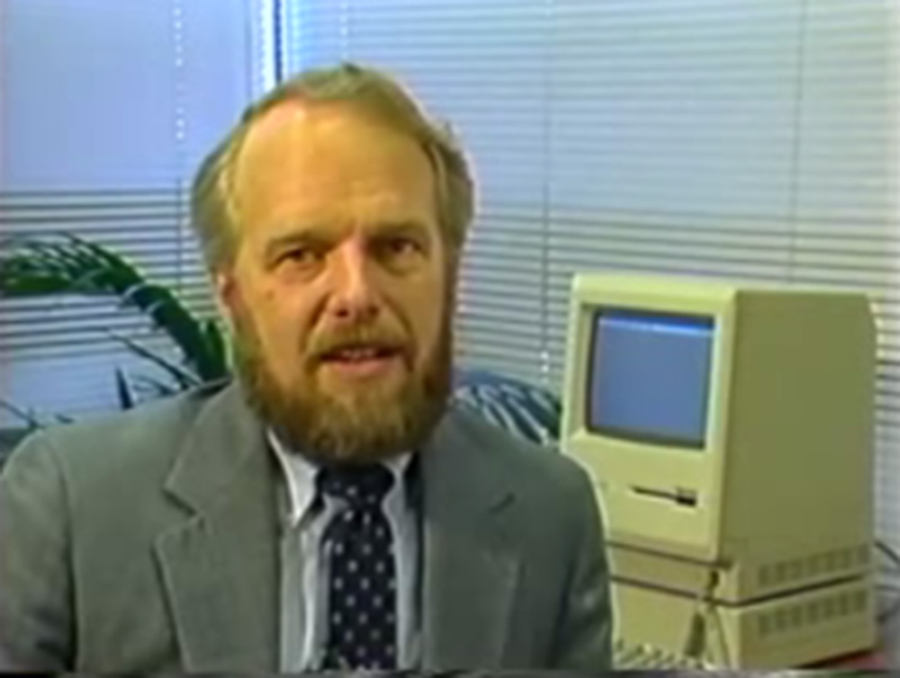 John Warnock, from the VHS tape that shipped with Illustrator 1.0.