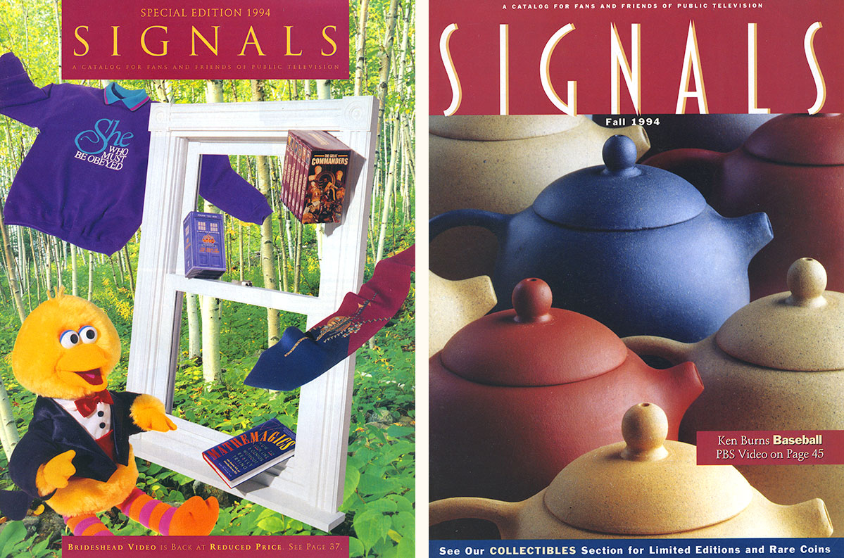 Signals catalog cover, before and after my redesign.
